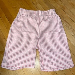 Pink gingham biker shorts!